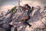 Lara Croft : Jump'n shoot