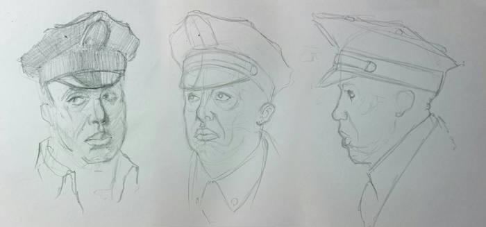 Spider-Man WOD sketch - Officer Hughes