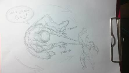 Spider-Man WOD sketch - Spidey action
