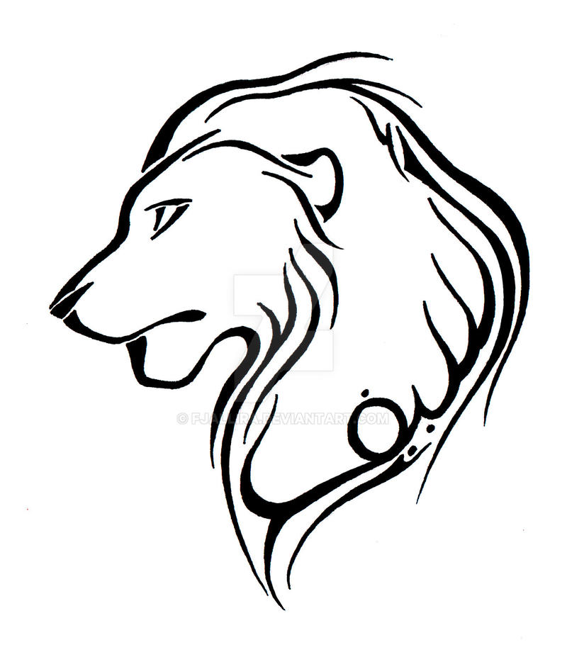 Tattoo Commission Lion By Fjallira On Deviantart