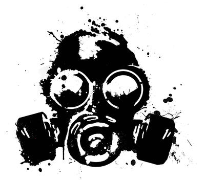 Evil Spray Paint Can Drawing