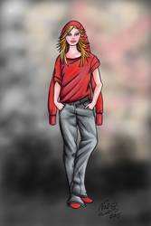Fanny Bray Red Hoodies by x8Finity