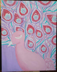 Pink Peacock by JoJoTucker