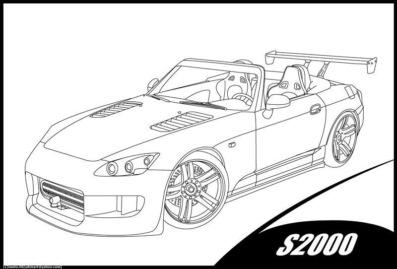 S2000 LineArt by nesto on DeviantArt
