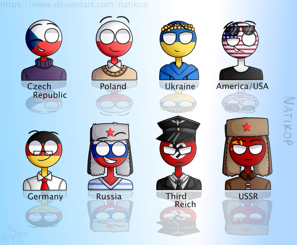 Countryhumans in My Style by Natikop on DeviantArt