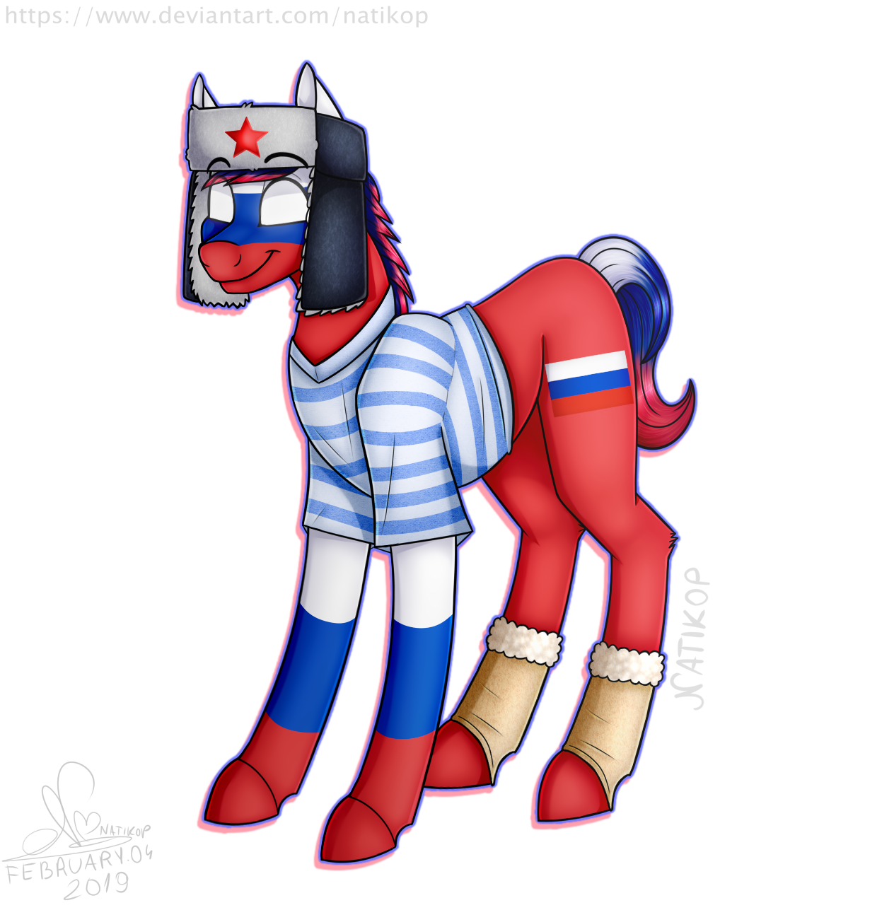 Russia Pony [Countryhumans x MLP] by Natikop on DeviantArt
