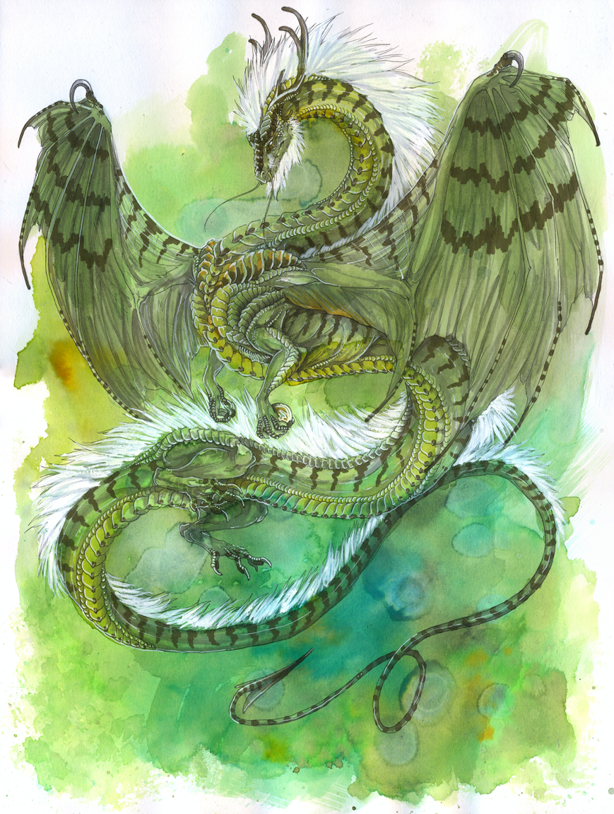 Green Elder Dragon by Isvoc