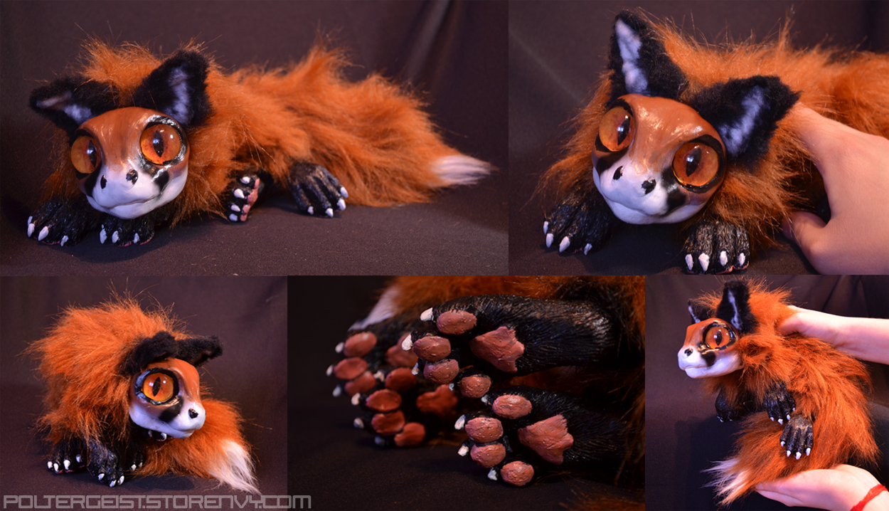 Newborn Red Fox Drake Doll by Isvoc