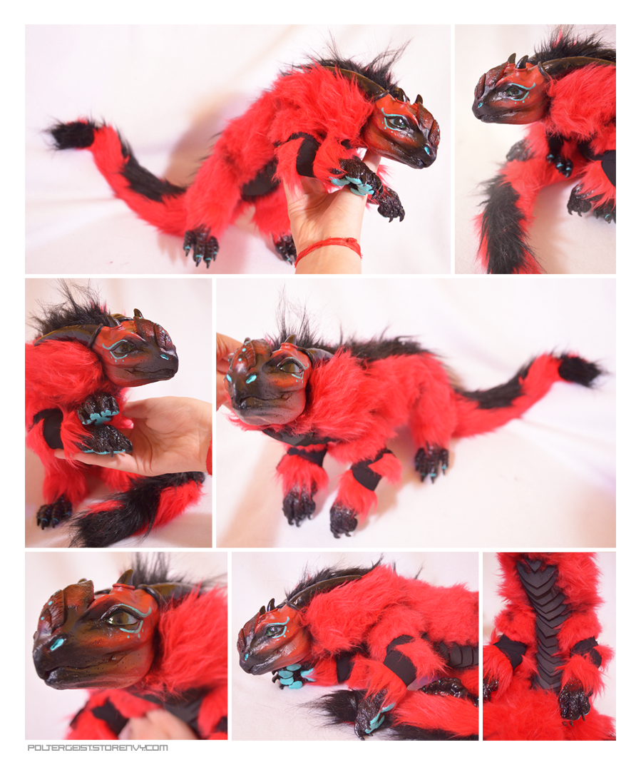 Longtail Crimson Drake Doll by Isvoc