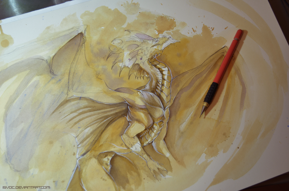 Tea Dragon WIP by Isvoc