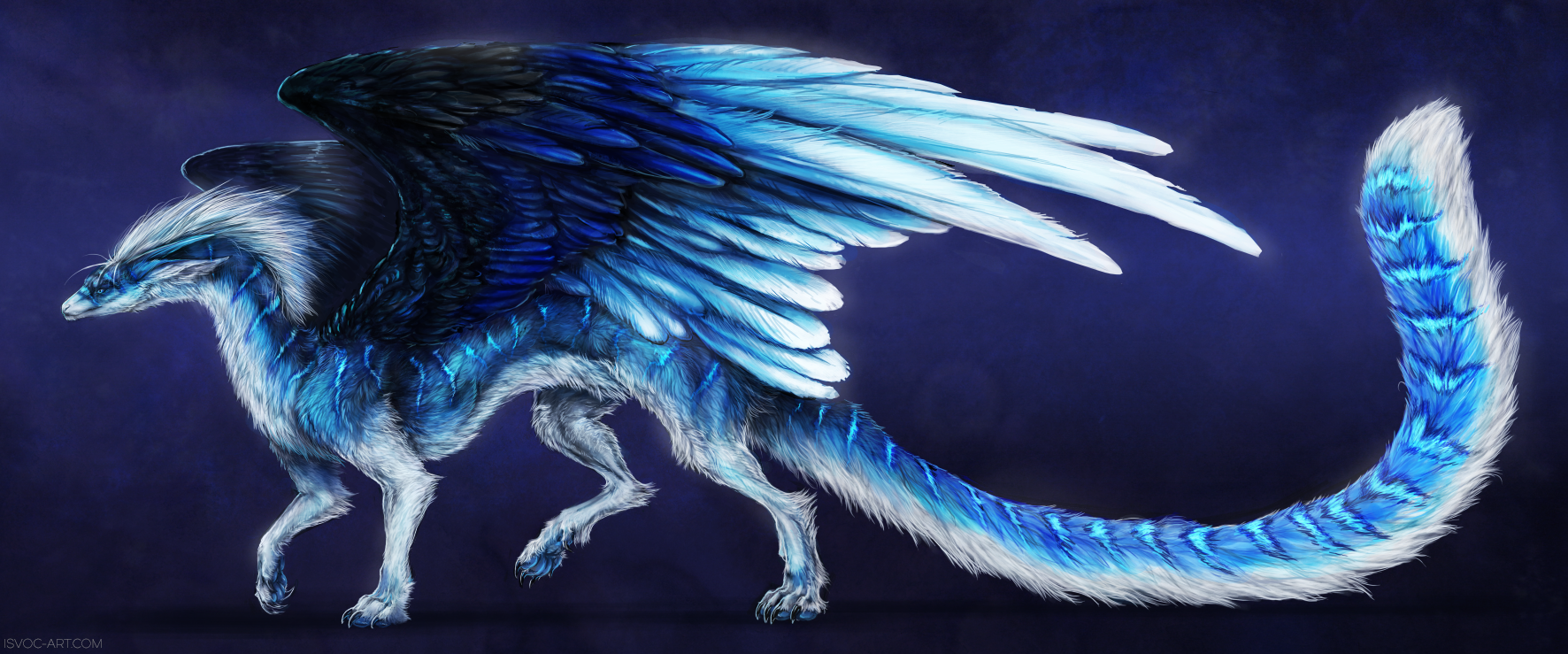Feathers Of Blue By Isvoc On Deviantart