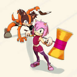 Sticks and Amy by Blackblader