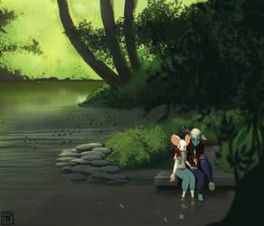 Forest River by Blackblader