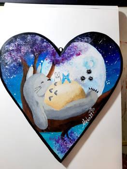 My neighbor Totoro (Heartshape Woodplate)