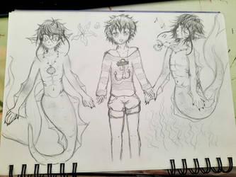 Merman (Mermaid Boy) (OC Sketch)