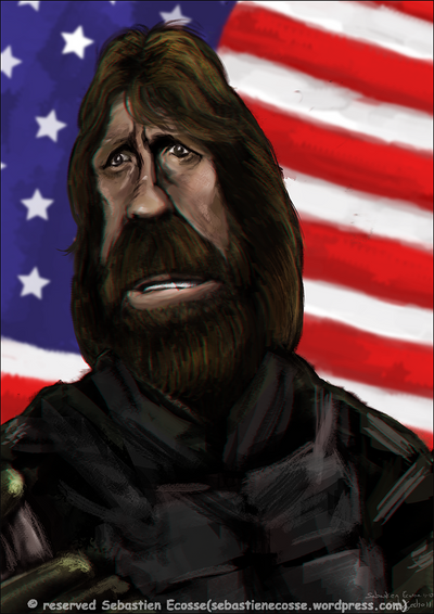 Chuck Norris an american hero by Sebastien-Ecosse