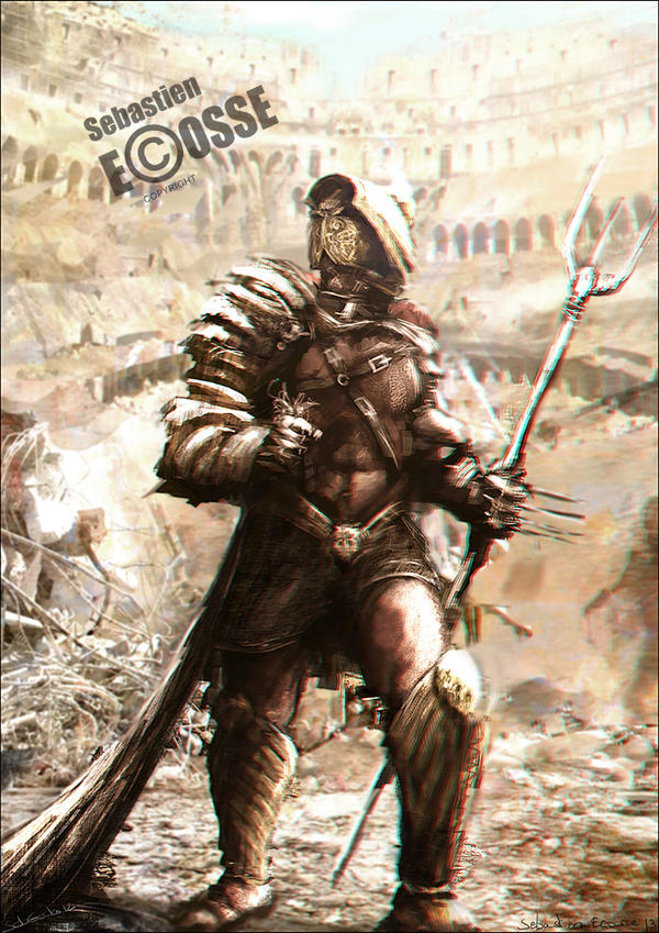 The champion gladiator by sebastien ecosse on deviantart for Kai greene painting