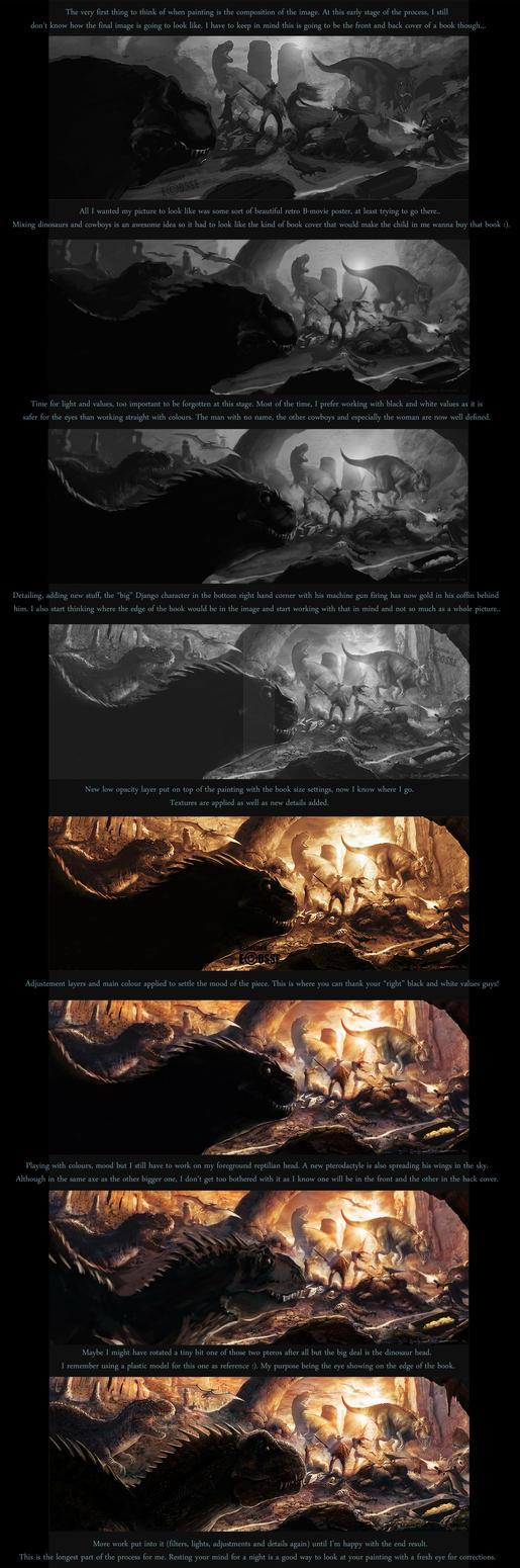 Step by step Savage worlds/Deadlands book cover by Sebastien-Ecosse