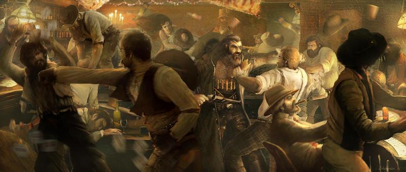 Savage Worlds Deadlands Saloon Rumble by Sebastien-Ecosse