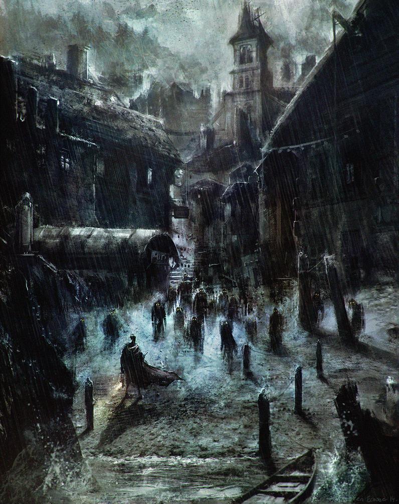 HP Lovecraft's Innsmouth by Sebastien-Ecosse