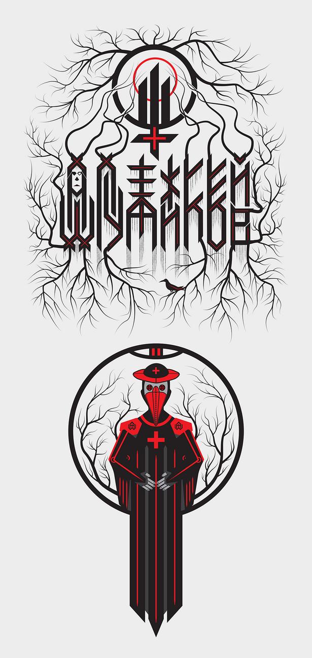 Dark illustration for t-shirt