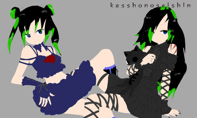 Mio and Haruhi Momozono by gaarafanlovers