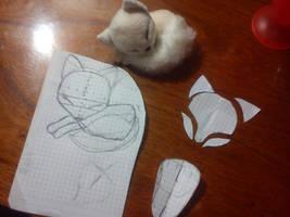 Sleeping fox,mini plushie patterns