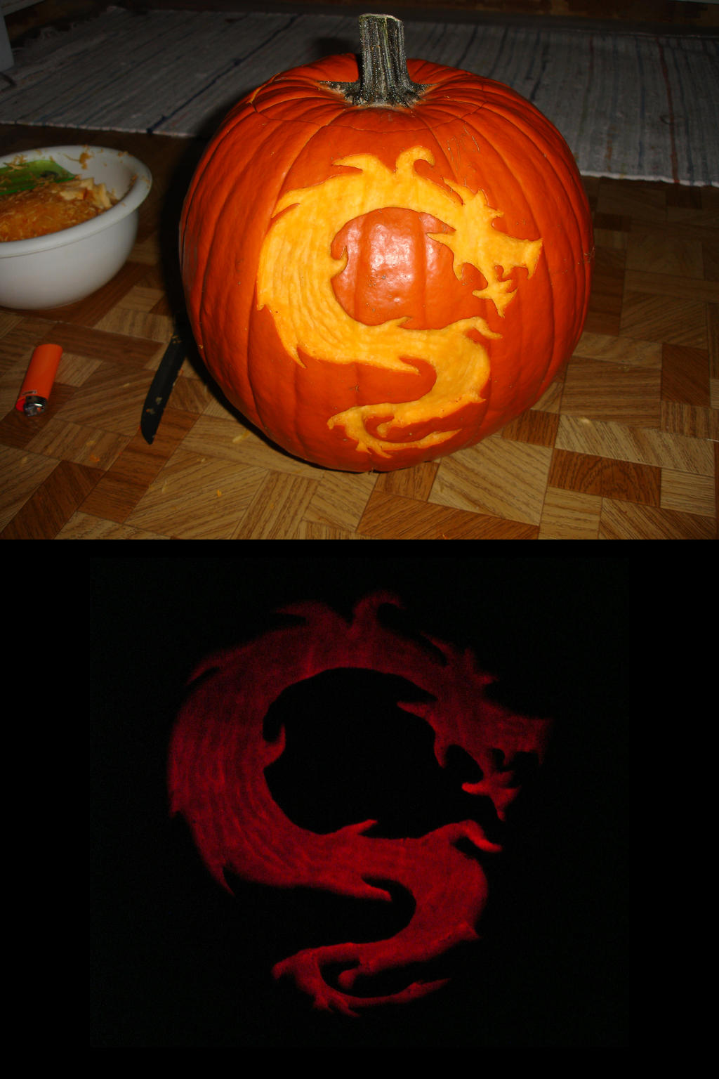 Dragon Carving by somechick73