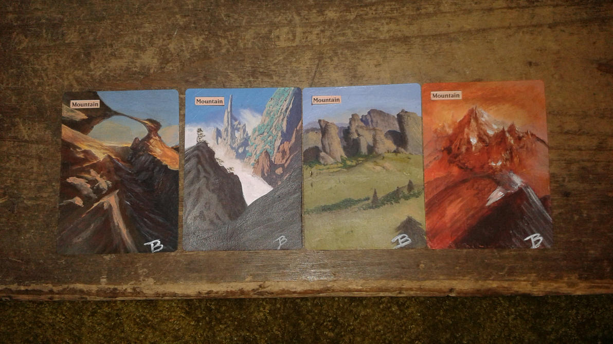 Mountains - Set of 4 by somechick73