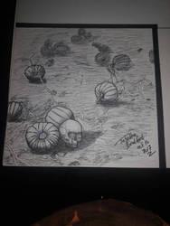 Pumpkin Patch Inktober 16 by somechick73