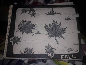 Leaves in flight Inktober 17