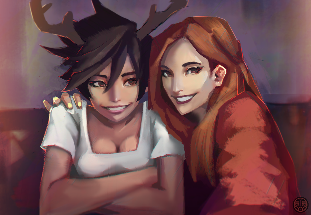 Tracer And Emily By Kaerru On Deviantart