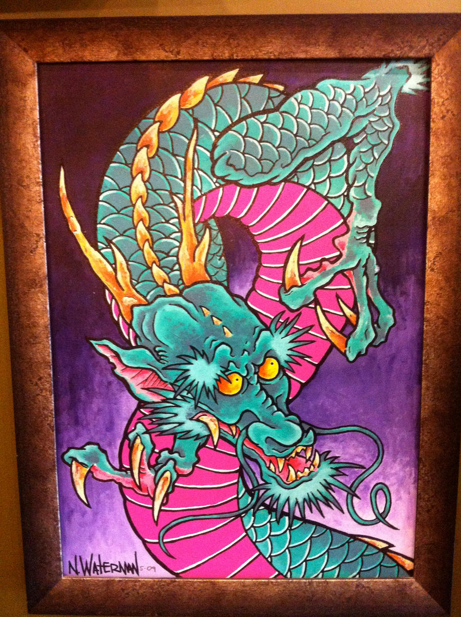 Japanese dragon by nate tattoo on deviantart for Japanese dragon painting