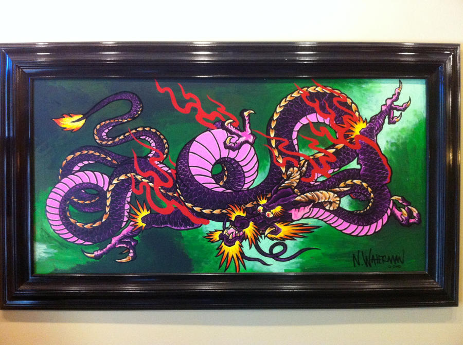 Japanese Painting Wallpaper Japanese Dragon Painting by