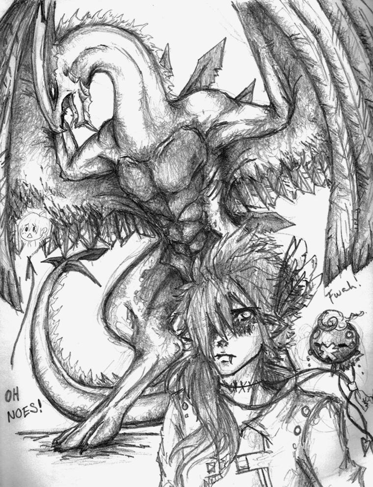 Lugia and Trainer Sketch by ShadowOfDarkness22