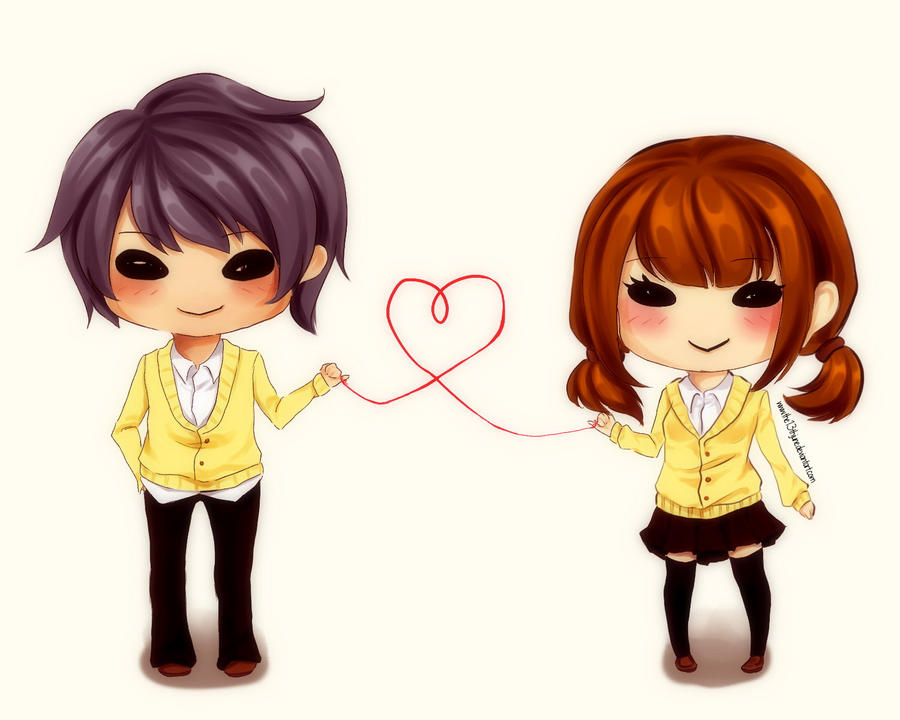 Chibi Couple by the13thJunE on DeviantArt