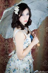 Victorian Maiden Bustier and Bustle Skirt