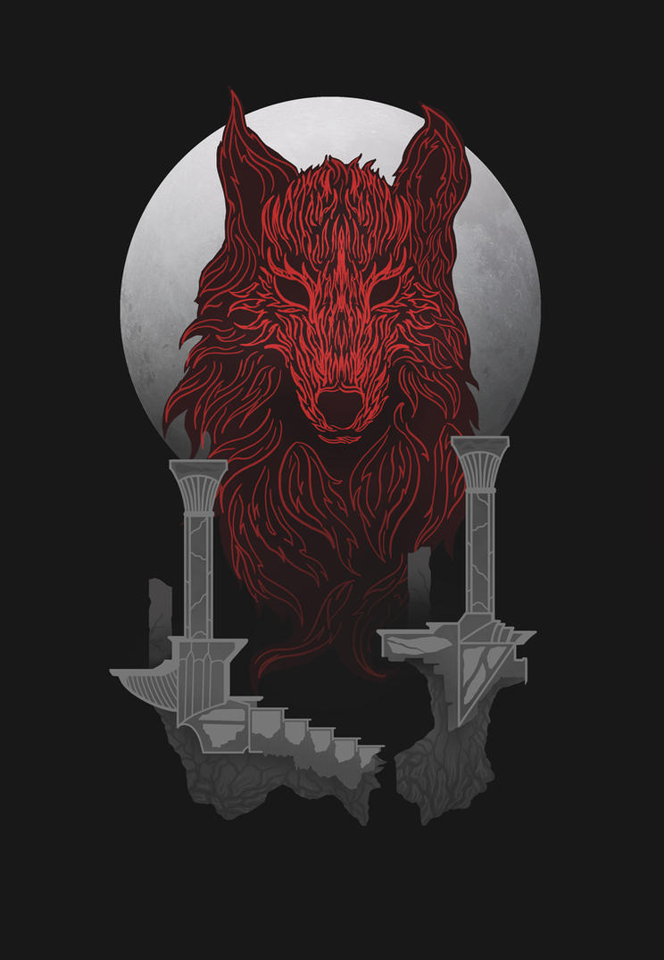 The Red Wolf by Azlaar