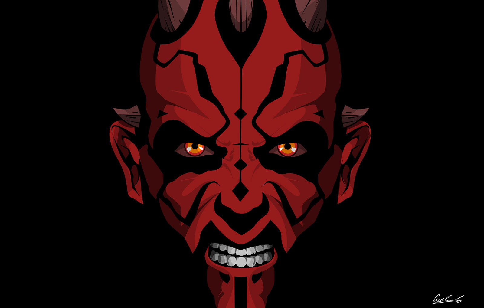 Darth Maul Black by benskywalking