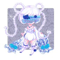 Chibi Snowie + Speed Paint by Teliwis