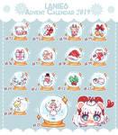 Advent Calendar Christmas 2019 - Lanies by Teliwis