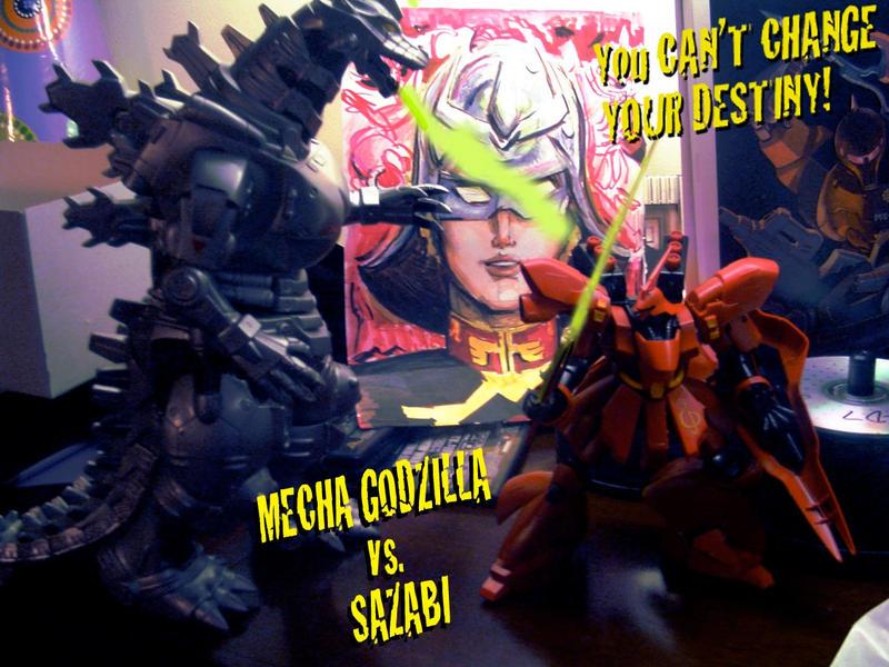 Char vs Mecha Godzilla by TheAmericanDream