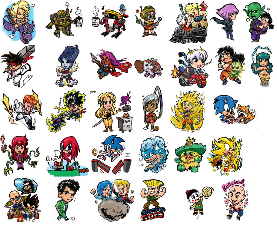 free gaming stickers