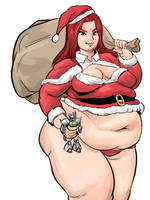 Christina McKenzie Holiday PinUp Commission by TheAmericanDream