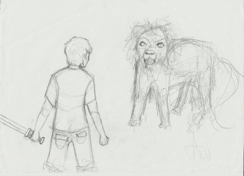 Percy and the Chimera by KyleJh on DeviantArt