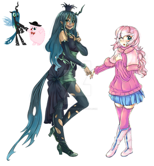 Chrysalis and Fluffle Puff
