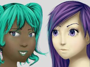 Cheyenne and Kasumi