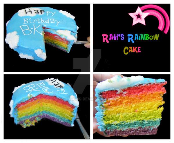 Rainbow Bundt Cake Tasty
