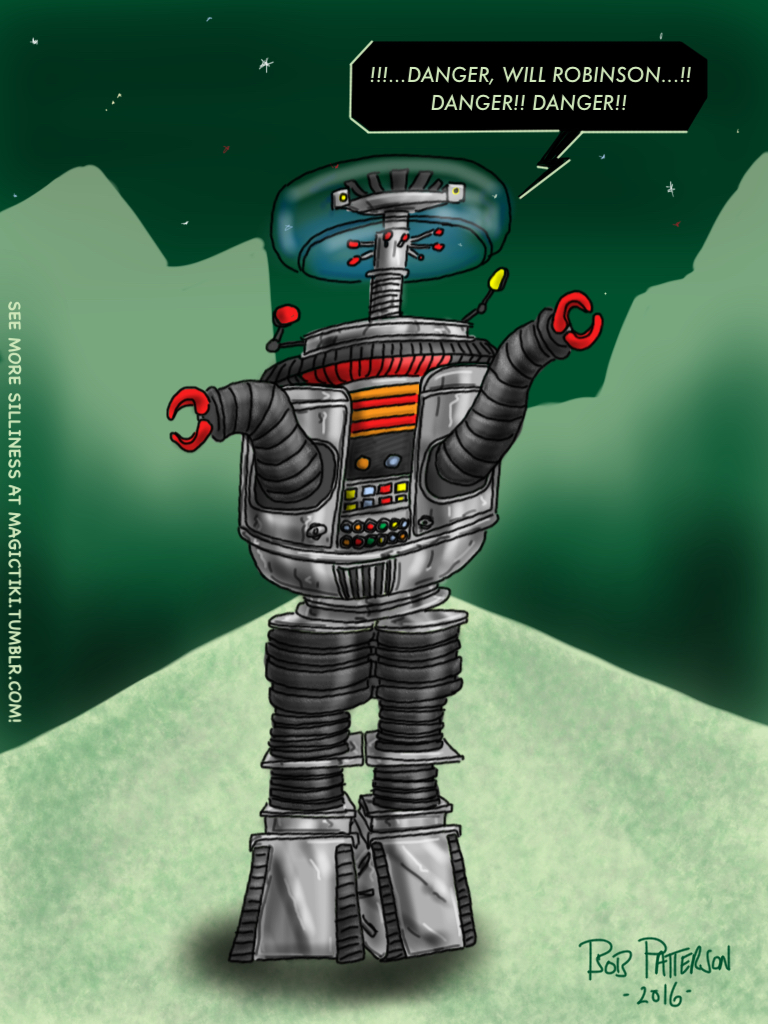 Robot B 9 A Sci Fi Vintage Classic By TheMagicTiki