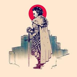Man has sword